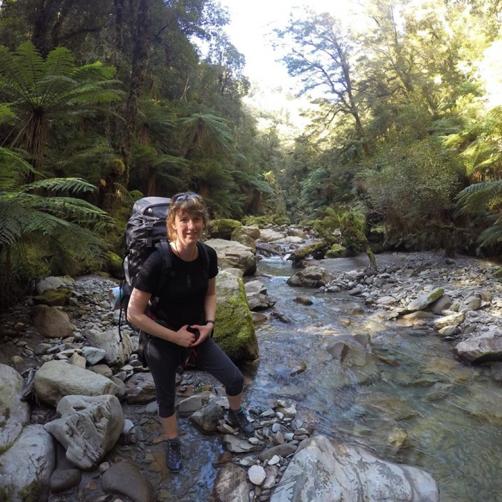 Guide Madeleine enjoys her own tramping adventures