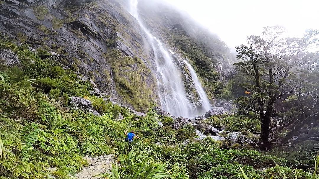 Fiordland Waterfalls with Trips and Tramps